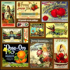 Vintage Labels A fun vintage collage pieces) Vintage Labels, Vintage Ephemera, Vintage Paper, Vintage Ads, Vintage Prints, Vintage Images, Vintage Posters, Vintage Room, Vintage Signs