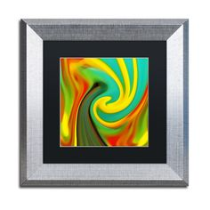 Amy Vangsgard 'Abstract Flower Unfurling Square 1' Matted Framed Art