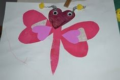 Toddler heart crafts. Love this! Bugs out is heart shapes!