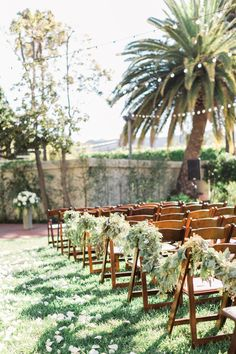 Chic + Whimsical Outdoor Wedding Set In Santa Barbara Wedding Sets, Wedding Ceremony, Outdoor Santa, Hanging Lights, Santa Barbara, Unique Weddings, Wedding Details, Greenery, Whimsical