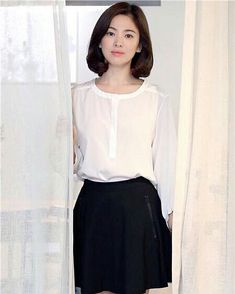 Korean Beauty, Asian Beauty, Gentleman Songs, Korean Celebrities, Celebs, Song Hye Kyo Style, Medium Hair Styles, Short Hair Styles, Back To School Fashion