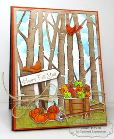 Happy Fall Y'all Card by Joan Ervin #Cardmaking, #Thanksgiving, #CuttingPlates