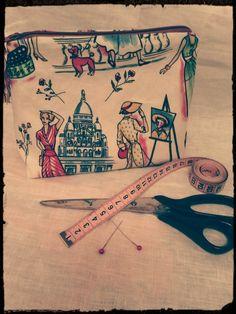 La parisienne ! Commande de ma collegue. Tissus bouillon de couture.