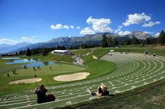 The new 13th hole at Crans-sur-sierre Golf Club, Crans-Montana, Switzerland