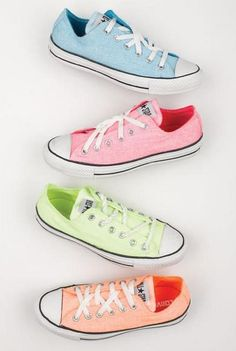 I m a converse girl and rock them all! You can never have too many converse  of different colors. 331339ce137