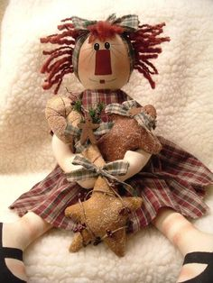 PRIMITIVE ORNAMENT COLLECTOR RAGGEDY ANN by yellowsweetpotato
