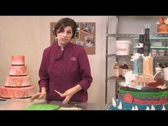 How To Use a Wavy Tool to Create Textured Cake Designs with Lauren Kitchens. Click: http://www.youtube.com/watch?v=t42wern5KOs=youtu.be
