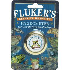 Fluker's Relative Humidity Hygrometer - For accurate terrarium measurements.