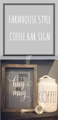 The coffee jar #coffeebar #kitchen #sign