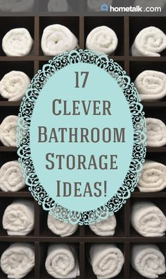 Clever bathroom storage ideas you won't want to miss!