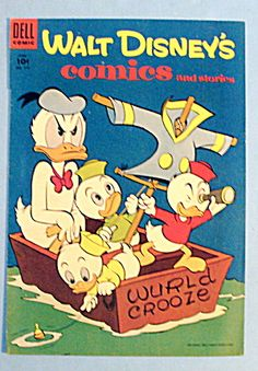 Walt Disney Comic Cover-June 1955-Donald Duck & Nephews