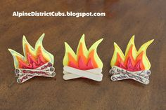 Campfire neckerchief slides