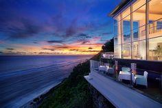 Incredible panoramic sunset views from the restaurant at Banyan Tree Ungasan, #Bali.