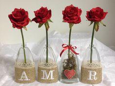 Vasinhos AMOR com flores RED   PRESENTE COM CARINHO - Presentes e decoração   Elo7