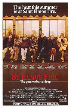 St. Elmo's Fire Movie Poster - Internet Movie Poster Awards Gallery