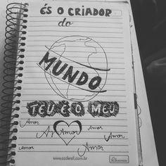 Hand lettering criador do mundo-Daniela araujo
