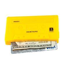 Hanitape Yellow - Tape Cassette Wallet.. Sweet.