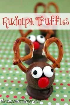 Super Cute Rudolph Truffles for Christmas