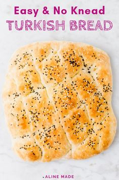 Making your own homemade Turkish Pide Bread is so easy and doesn't even involve kneading. Let me show you how to bake this Turkish bread recipe at home without much effort. # Food and Drink homemade Turkish Pide Bread (No Knead) Turkish Pide Bread Recipe, Turkish Flat Bread, Turkish Recipes, Pide Recipe, Romanian Recipes, Scottish Recipes, Easy Flatbread Recipes, Bread Recipe Video, Flat Bread Recipe Easy