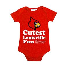 Louisville Cardinals Cutest Fan Ever NCAA College Newborn Infant Baby Creeper 6 Months >>> Visit the image link more details. Note:It is affiliate link to Amazon.