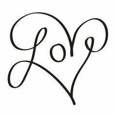 Valentines Day Quotes : The word love in cursive text incorporated in a heart? There is no better way to. - Quotes Sayings Love In Cursive, Cursive Words, Finding True Love, Temporary Tattoos, Painted Rocks, Clip Art, Valentines, Crafty, Love Heart Drawing