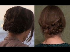 Based on a style from Gossip Girl, this seemingly intricate braided hairdo only requires one to make pigtail braids, intertwine and wrap them, and pin them in place. Box Braids Hairstyles, Cool Hairstyles, Wedding Hairstyles, Lady Lockenlicht, Easy Braided Updo, Quick Braids, Long Hair With Bangs, Smooth Hair, Hair Today