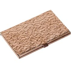Amazon.com: Metal Damask Embossed Business Card Case (Silver): Office Products