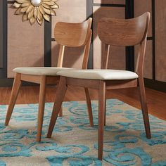 DR $161/set of 2. Plain-Jane seats but for this price we could find some supercool fabric and recover them. MID-CENTURY LIVING Penelope Danish Modern Tapered-leg Dining Chair (Set of 2)