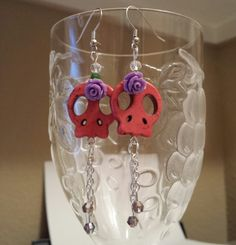Betsy's Jewelry at Etsy at https://www.etsy.com/listing/172861830/betsys-jewelry-skull-earrings-day-of-the
