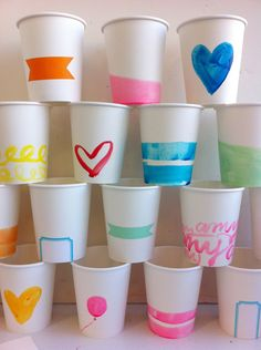 Pretty Personalized Party Cups