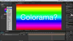 Colorama effect in After Effects #AfterEffects #Tutorial #motiongraphics…