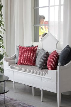 Sofa, Couch, Country Interior, Country Style, Love Seat, New Homes, Cottage, Living Room, Furniture