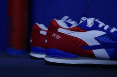 Diadora releases, 24 years later, one of the most technical and colorul running shoes of the 90's. Originaly released on 1992, the N92 is back in its first colourway, a Blue and Red nylon upper on top of a white midsole.  Available here