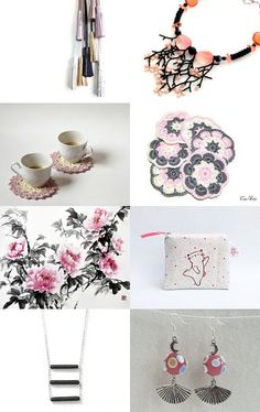 Pink and Friends by Julia on Etsy--Pinned with TreasuryPin.com