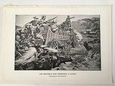 The Matabele War, Antique Print 1900 South Africa Transvaal War, Boer | eBay