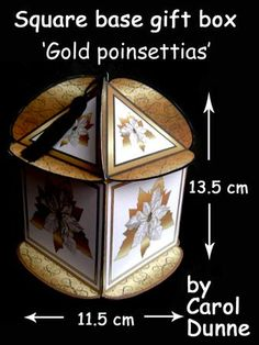 Easter gift box on craftsuprint designed by carol dunne a square based gift box gold poinsettias on craftsuprint view now negle Gallery