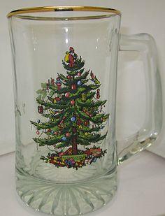 2 Spode Christmas Tree Mugs made in England