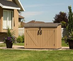 Lifetime Horizontal Shed   Tanned Shade. Lifetimeu0027s Plastic Horizontal Storage  Sheds Deliver 75 Cubic Feet