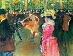 Ball in the Moulin Rouge by Toulouse Lautrec Giclee Print Repro on Canvas Henri De Toulouse Lautrec, Francisco Goya, Caravaggio, Renoir, Prune Nourry, Bastet, Hans Arp, Inside Art, Philadelphia Museum Of Art