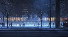 ArtStation - Ice skating Rink, Tamas Medve