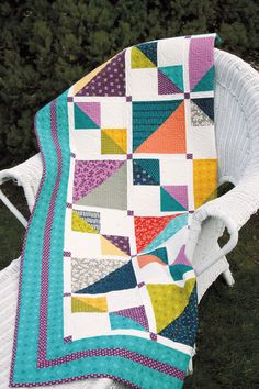 Mix it Up Quilt Kit: Use fresh, pretty prints from the Mixologie collection by Moda Fabrics to make this fun, easy-to-piece quilt. The simple blocks have lots of movement and the pieced sashings add variety.