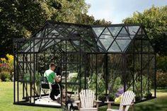 Växthus Sirius 13 m2 Svart