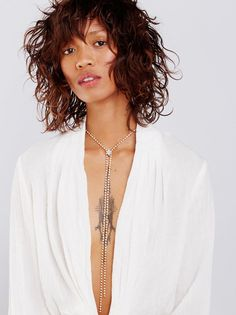 Free People Free People Electric Falls Iridescent Bolo Rose-Gold Iridescent