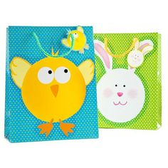 7 per dozen easter gift bags orientaltrading easter 2 cute easter gift bags negle Images