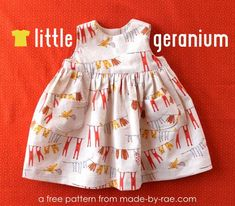 Free Little Geranium Dress Pattern