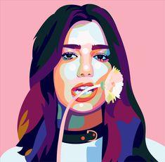 Digital illustration, illustration styles, pop art girl, painting of girl, Pop Art Drawing, Cool Art Drawings, Pop Art Portraits, Portrait Art, Buch Design, Pop Art Posters, Pop Art Girl, Vector Portrait, Diy Canvas Art