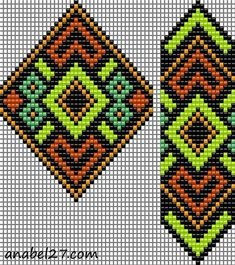 Gerdan of Anabel. Beaded Bracelet Patterns, Bead Loom Patterns, Peyote Patterns, Beading Patterns, Cross Stitch Patterns, Peyote Beading, Tear, Tapestry Crochet, Loom Weaving