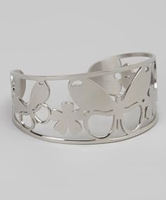 Take a look at this Silver Butterfly Cuff by Kardee Jewelry Art on #zulily today!
