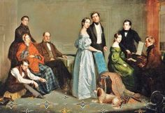 """""""George Hollingsworth (American artist, 1813-1882) The Hollingsworth Family, 1850""""  (Image:  It's About Time: 19th-Century American Families)"""