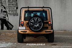 different look with custom rear bumper for jeep wrangler